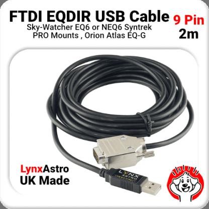 2m FTDI EQDIR Cable for Skywatcher EQ6, NEQ6, Syntrek Pro, Atlas EQ-G Adaptor Cable