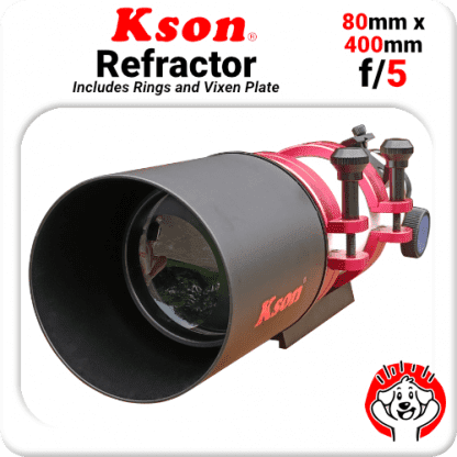 Kson f/5 80mm 40mm refractor guider with rings and vixen bar